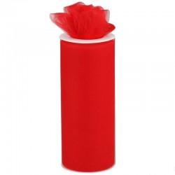 Rouleau de tulle rouge 15 cm