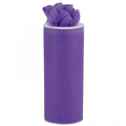 Rouleau de tulle violet 15 cm