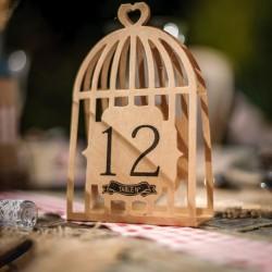 Numéro de table cage à oiseaux ( par 12)