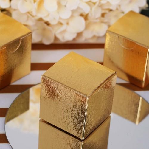 Boite à dragées dorée par 10