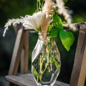 Vase en verre origami