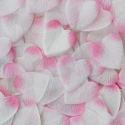 Pétales coeur roses x 100