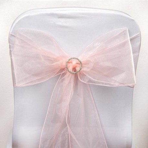 noeud de chaise organza rose poudr par 10 les couleurs du mariage mariage et r ception. Black Bedroom Furniture Sets. Home Design Ideas