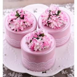 Boite à dragées romantique rose