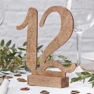 Numéro de table cuivré par 12