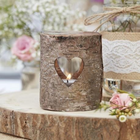 photophore rustique en bois les couleurs du mariage mariage et r ception. Black Bedroom Furniture Sets. Home Design Ideas