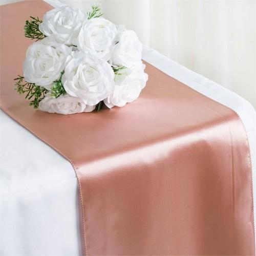 Chemin de table mariage satin blush