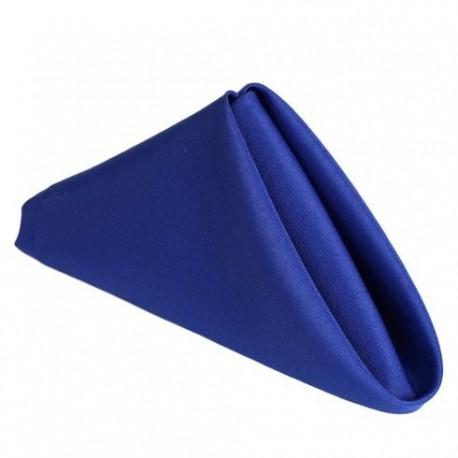 Serviette de table bleu roi par 5