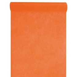 Chemin de table intissé orange 10 m