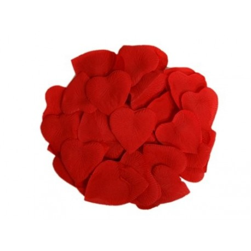 Pétales coeur rouges x 100