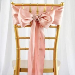 Noeud de chaise satin rose poudré