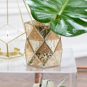 Vase géométrique mercurisé