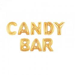Ballon géant candy bar doré
