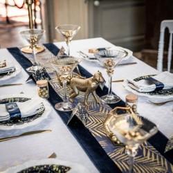 Chemin de table feuillage doré
