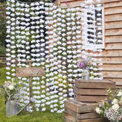 Rideau de cérémonie fleurs blanches