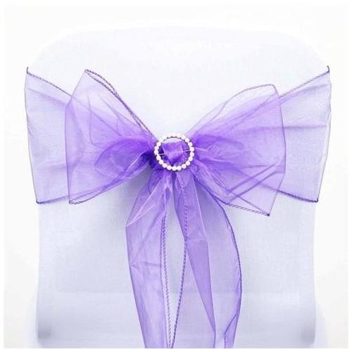 Noeud de chaise organza mariage violet par 10