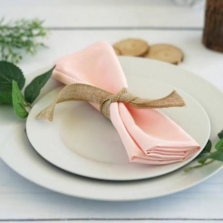 Serviette de table blush par 5
