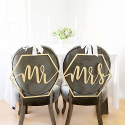 Mr & Mrs hexagonal en bois