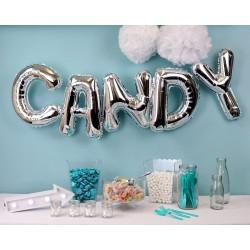 Ballon géant candy bar argent
