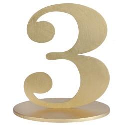 Numéro de table or métallisé