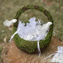 Panier à pétales végétal