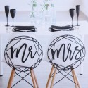 Mr & Mrs graphique noir