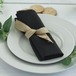 Serviette de table noire par 5