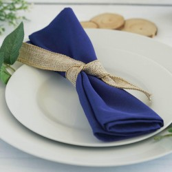 Serviette de table bleu roi par 5