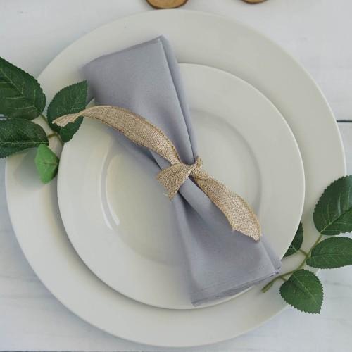 Serviette de table argent par 5