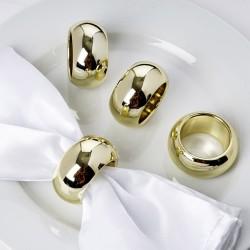 Rond de serviette mariage doré par 4