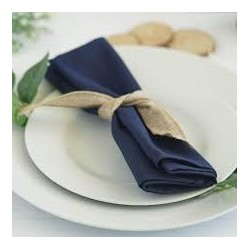 Serviette de table bleu marine par 5