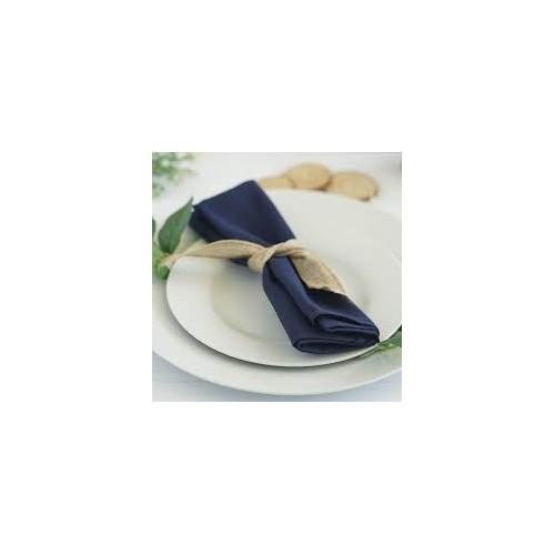 Serviette de table bleu marine par 5