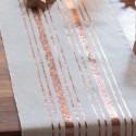 Chemin de table rayures cuivrées