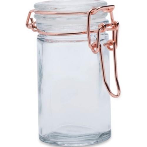 Pot en verre à bonbons cuivré par 4