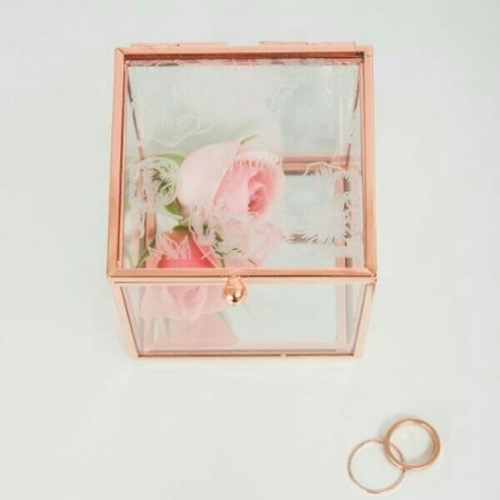 Porte alliances rose gold