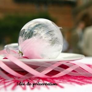 Boule à dragées transparente par 10