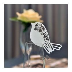 Marque place oiseau coeur par 10