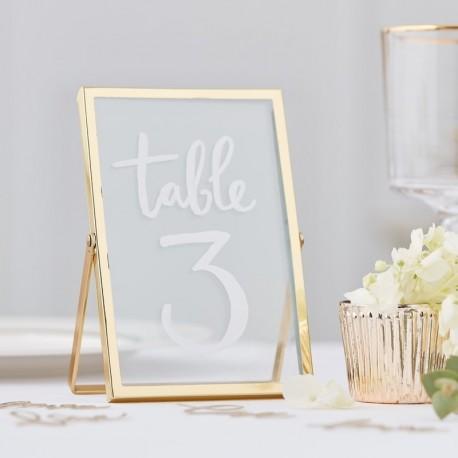 Cadre en verre métal doré