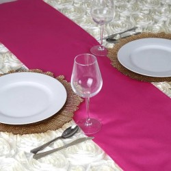 Chemin de table polyester fuchsia