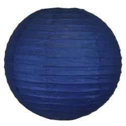 Lampion en papier bleu marine