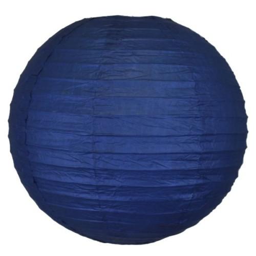 Lanterne japonaise bleu marine