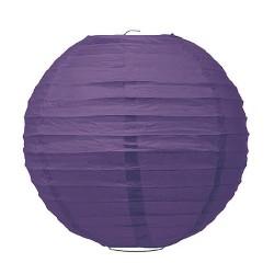 Lanterne en papier violet 35 cm