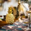 Ananas résine doré