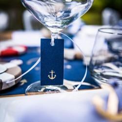 Etiquette ancre marine or par 10