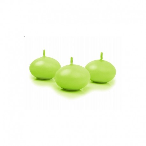 Bougie flottante vert anis par 10