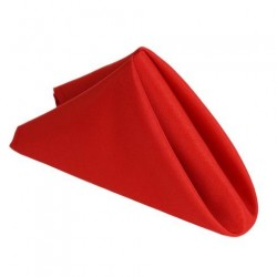 Serviette de table rouge par 5