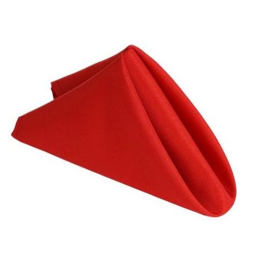 Serviette de table rouge par 5