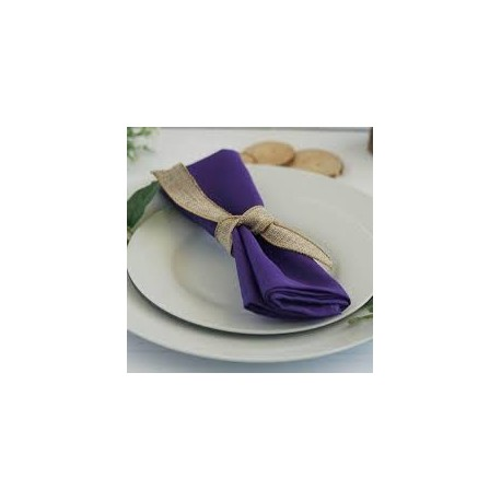 Serviette de table violet par 5
