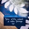 Marque place chevalet bleu marine par 10