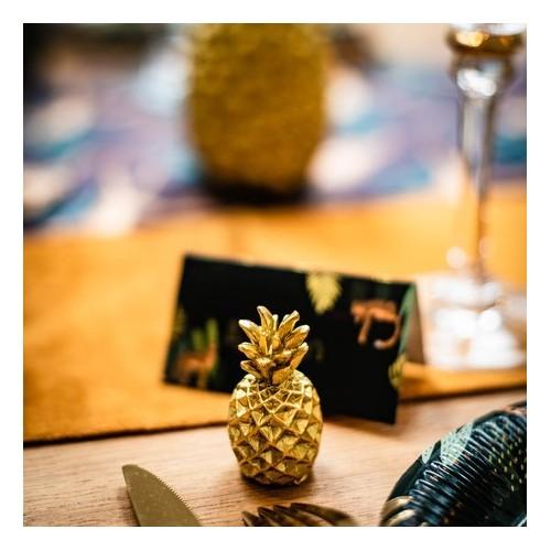 Porte nom ananas doré